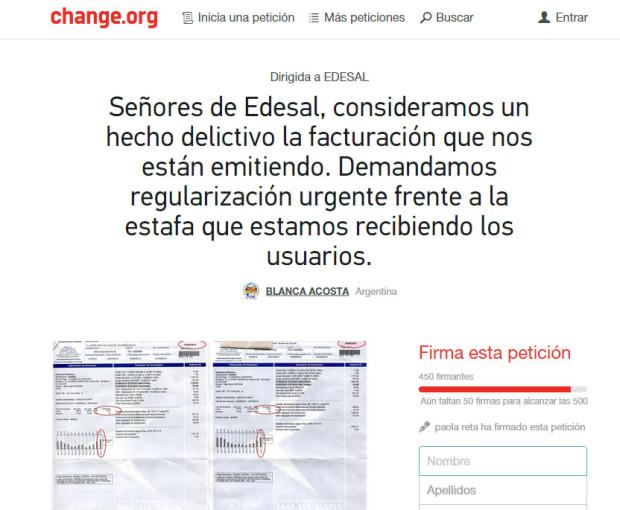 Juntando firmas de peticiones online