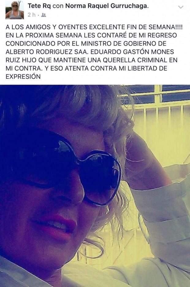 Facebook de Norma Raquel Gurruchaga