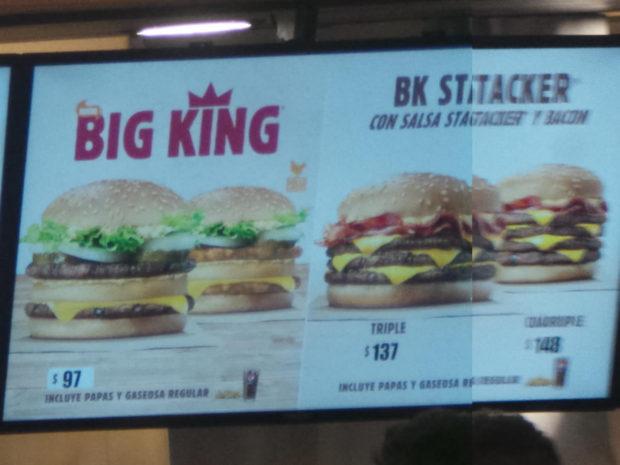 Precios de Burger King en San Luis