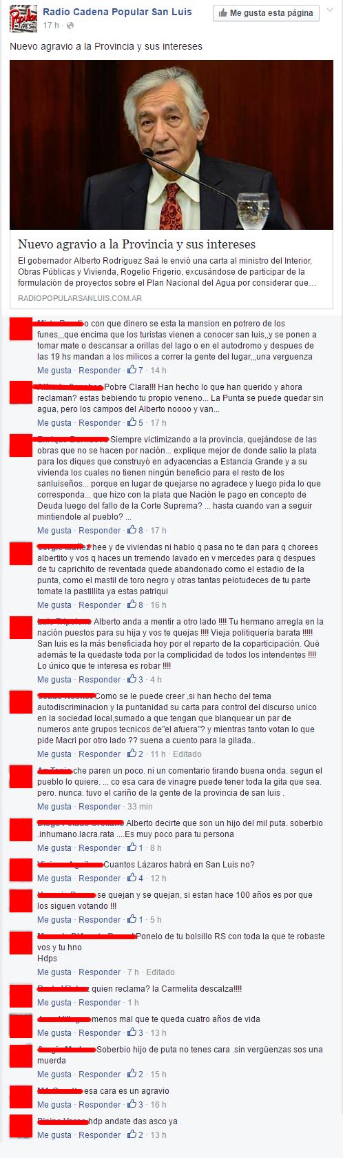 Decenas de comentarios desnudaron la maniobra del Adolfo y Alberto.