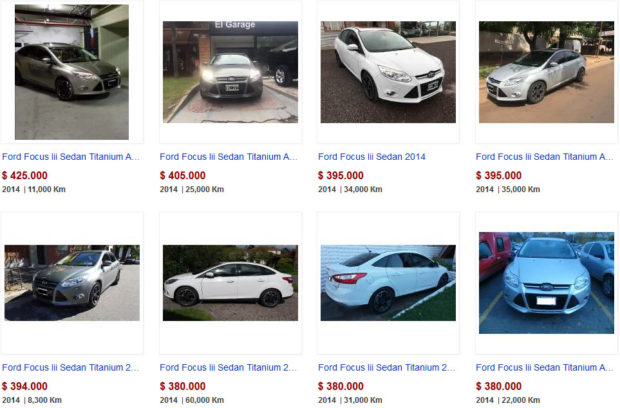 Ford Focus 2014 en MercadoLibre van de 380 a 360 mil pesos