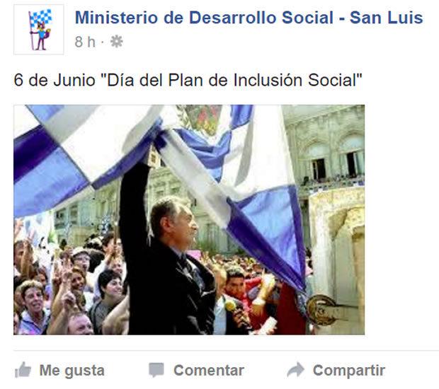 Facebook del Ministerio de Desarrollo Social