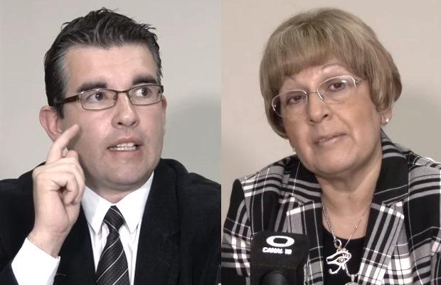 Ministro de Salud, Marcelo Riera y Coordinadora de DOSEP, Silvia Cano