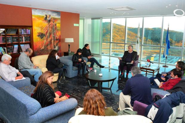 Rodríguez Saá y la última audiencia con un selecto grupo de periodistas.
