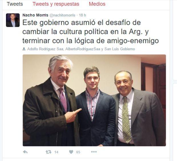 """El jovén Morris con el hermanos y """"dedito"""" de Alberto."""