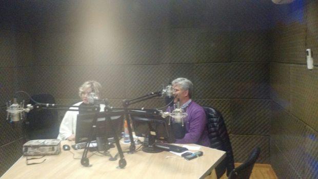 Claudio Poggi en el programa de Raquel Gurruchaga en Radio La Bomba, Villa Mercedes