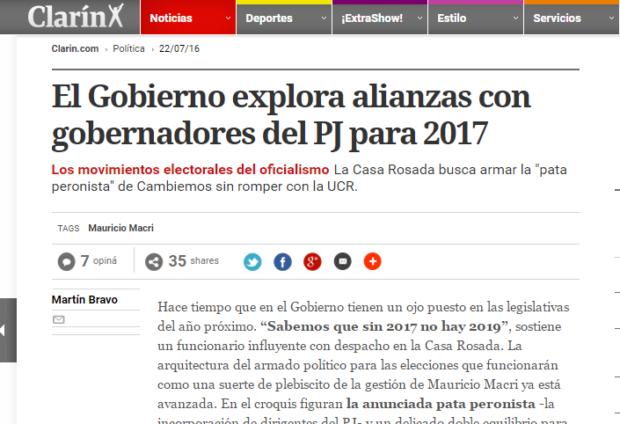 Para leer la nota de Clarín hagla click: http://www.clarin.com/politica/Gobierno-explora-alianzas-gobernadores-PJ_0_1617438428.html