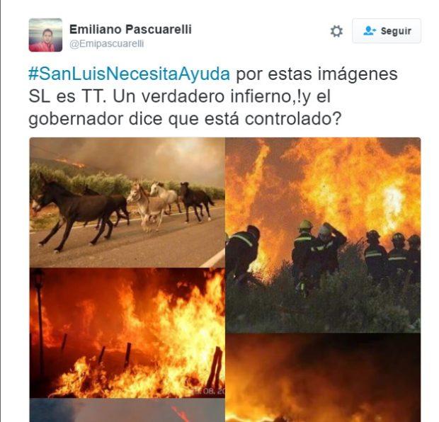 El Twit que generó la enardecida respuesta del diario de Rodríguez Saá.