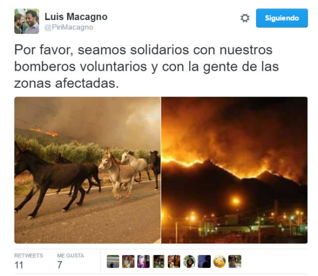 Tweet de Luis Macagno