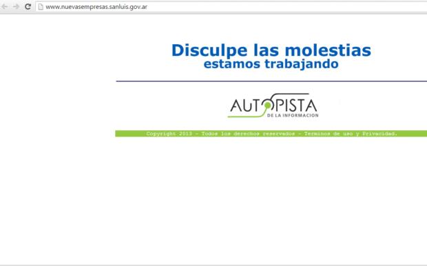 Así se visualiza hoy la página Web del exitoso programa de gobierno de la gestión de Claudio Poggi.