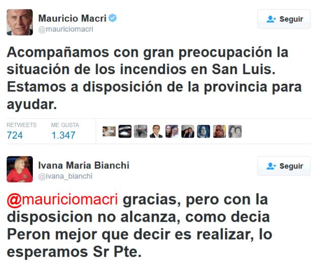 MENSAJE DEL PRESIDENTE DE LA ARGENTINA Y LA RESPUESTA DE UNA DIPUTADA NACIONAL POR SAN LUIS