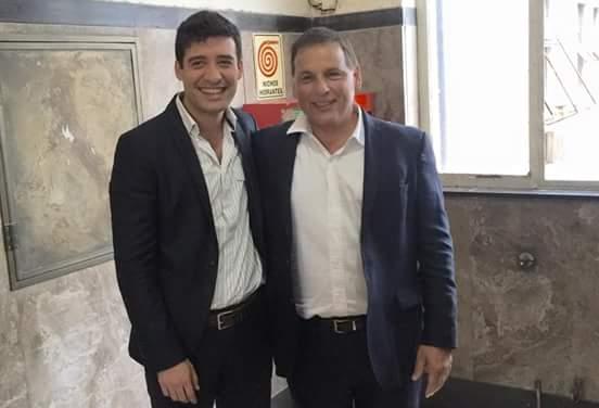 Enrique Ponce, ahora aliado a Rodríguez Saá, con el diputado Alejandro Cacace de Cambiemos