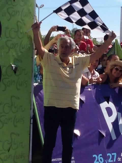 Gobernadro de San Luis, Alberto Rodríguez Saá en su ultimo Tour de San Luis