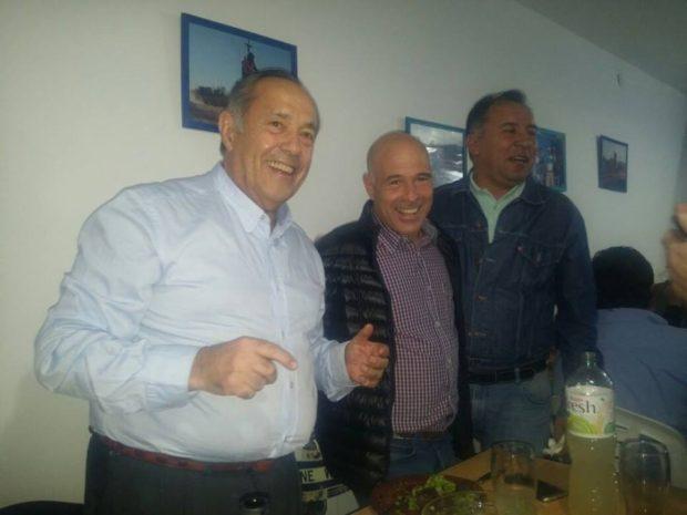 Adolfo Rodríguez Saá  junto a Bartolomé Abdala