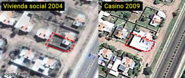 Desde Google Earth se puede ver que en el 2004 era una vivienda social y en el 2009 la convirtieron en una caja de juegos.