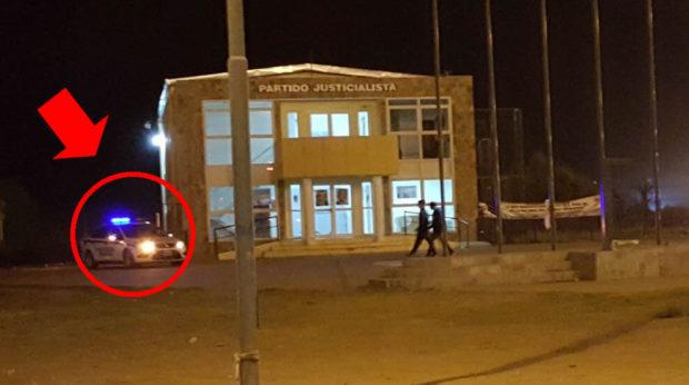 La Punta, imagen del PJ cerrado y con la policía custodiando