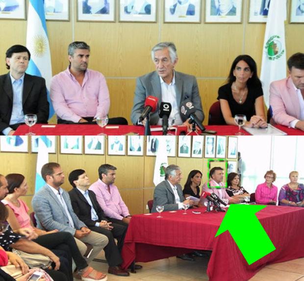 Falta la foto del ex gobernador Poggi en la sala de situación de casa de gobierno