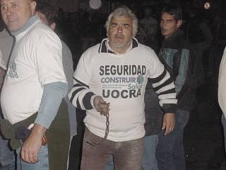 La UOCRA utilizada por Rodríguez Saá como fuerza de choque.