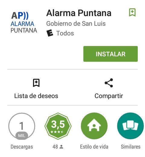 La Alarma Puntana y apenas 1000 descargas de un sistema que no sedujo a los san luiseños.