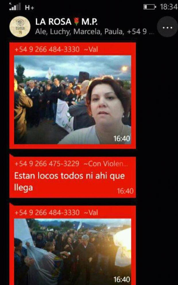 """En el grupo de chat de los """"Albertistas"""" publican las fotos de las mujeres que acompañaron a Poggi y a Olivero."""
