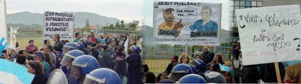 Las protestas sociales en la legislatura de San Luis. 2004