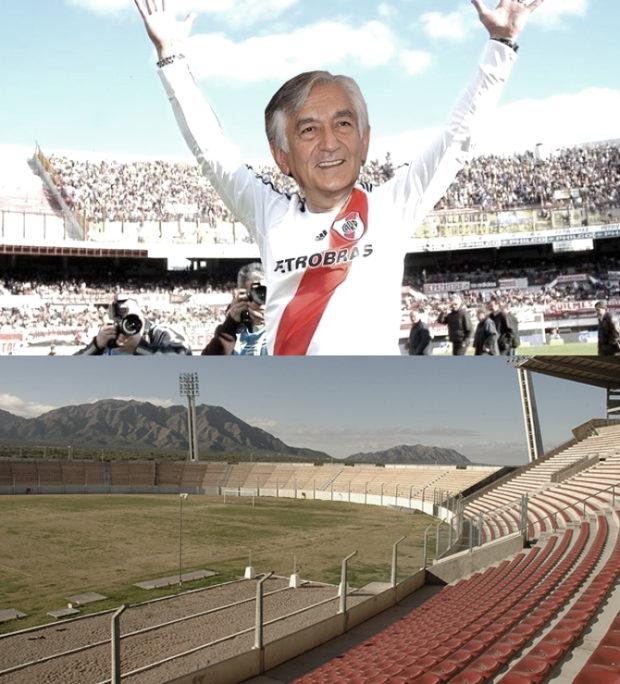 Alberto Rodríguez Saá va construir un estadio del doble del tamaño del que hizo Adolfo Rodríguez Saá
