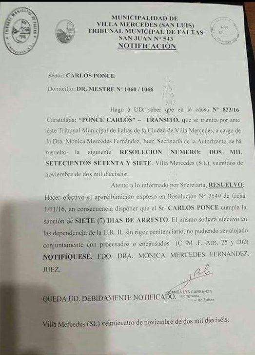La orden de arresto por los constantes incumplimientos de Ponce.