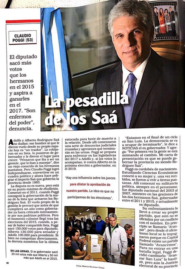 La Pesadilla de los Saá, la nota de Carlos Claá para Noticias.
