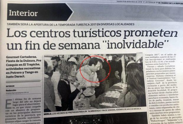 """La """"inocente"""" nota del diario de Rodríguez Saá y el mensaje para el Juez Ruta."""