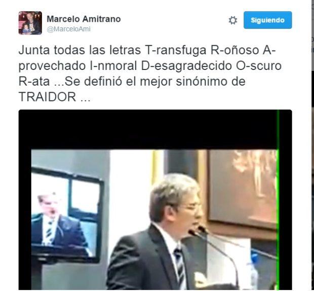 La triste publicación del Ministro Amitrano en Twitter.